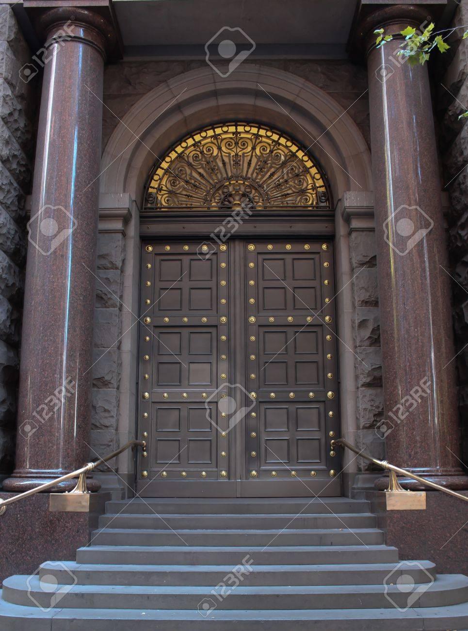 Vintage city business entrance doors Stock Photo - 17435406