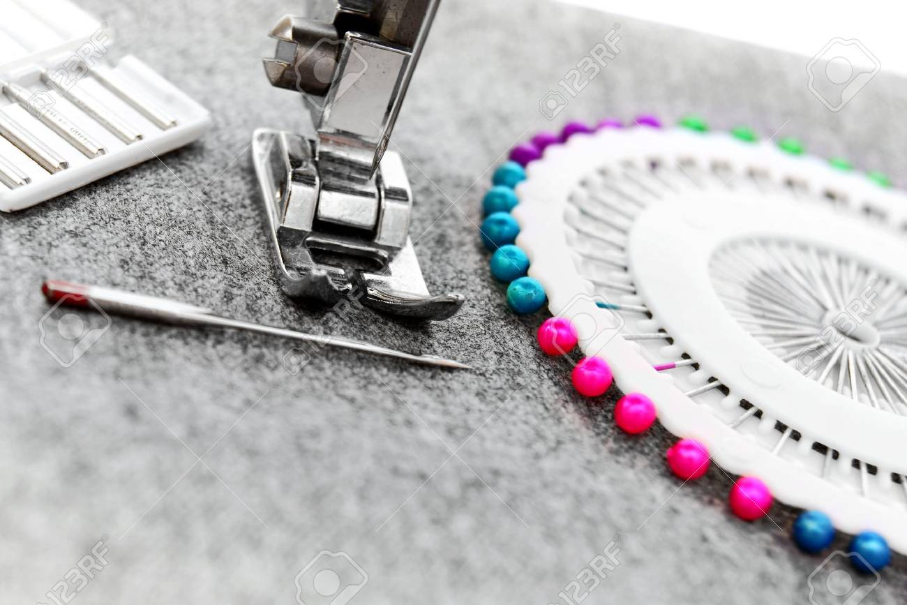 The sewing machine, needles Stock Photo - 13807163