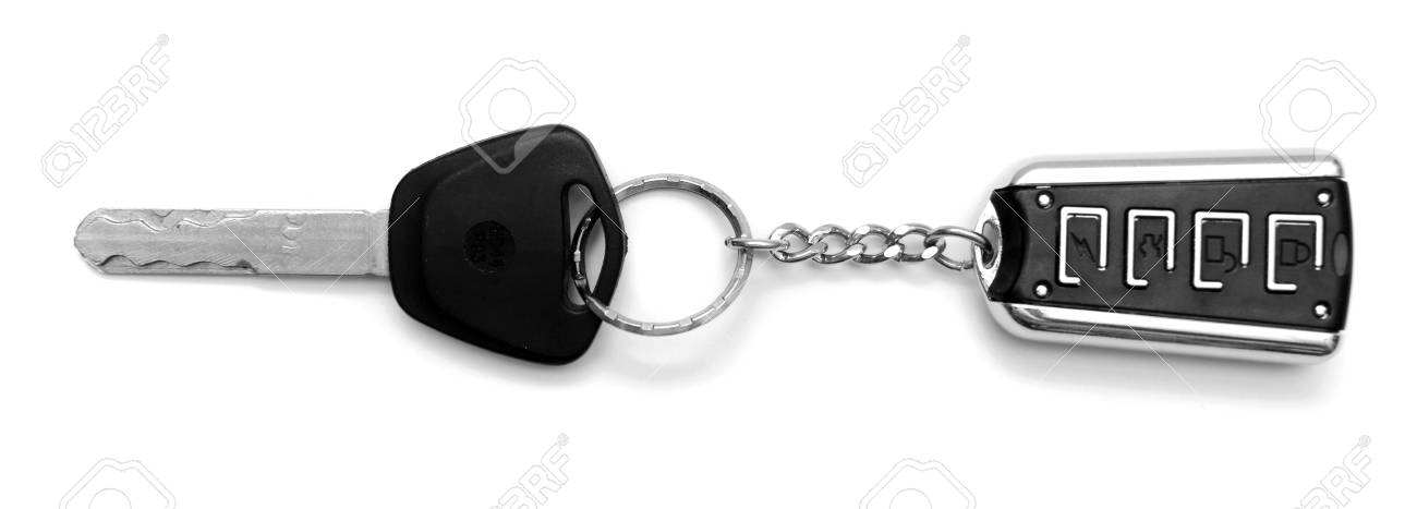 Key and charm  On a white background Stock Photo - 13806263