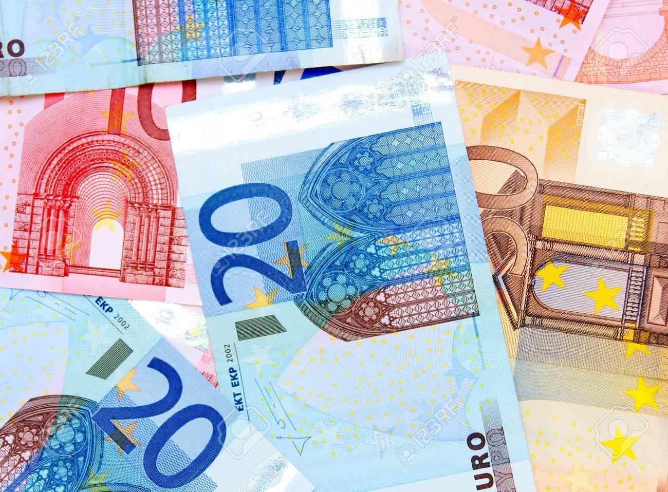 Background  It is a lot of money  euro Stock Photo - 17237116