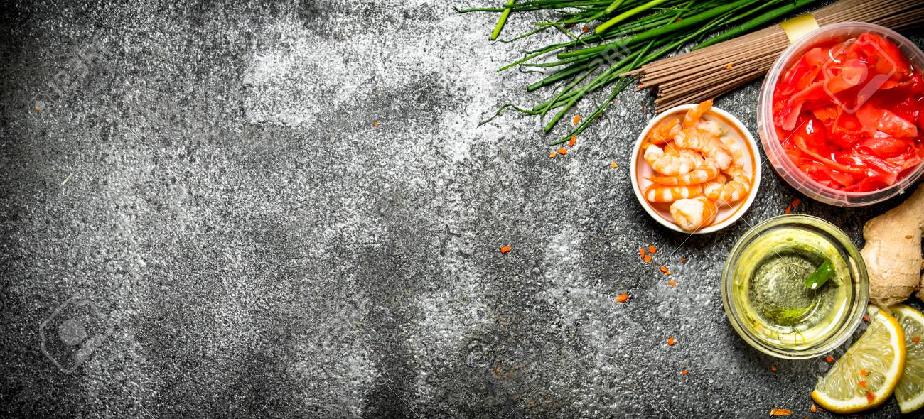 Asian food fresh ingredients for cooking chinese food on a rustic asian food fresh ingredients for cooking chinese food on a rustic background stock photo forumfinder Images
