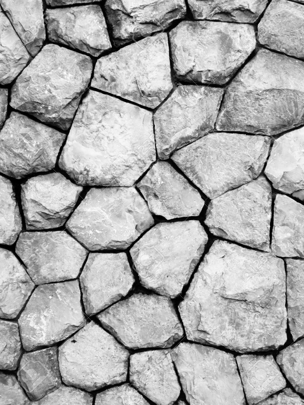 Black And White Stone Wall And Floor Texture Background Stock. Black And White Floor Texture