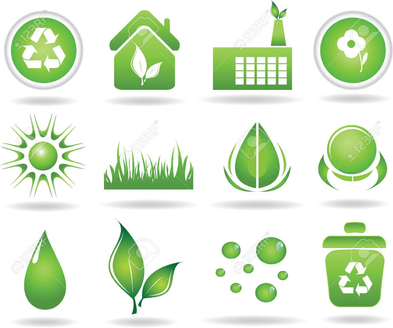 Set of ecology icons-vector illustration Stock Vector - 5027358