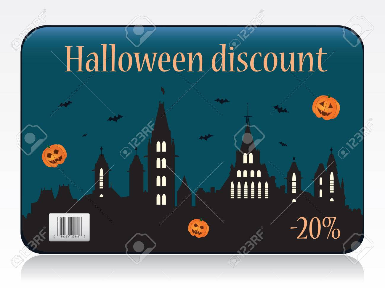 Halloween discount card vector Stock Vector - 8076398