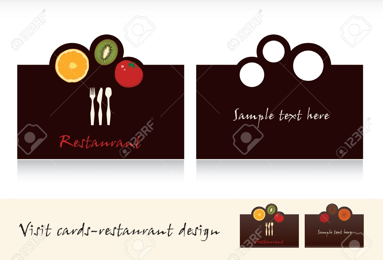 Visit Card Design-business Card For Restaurant Vector Royalty Free ...