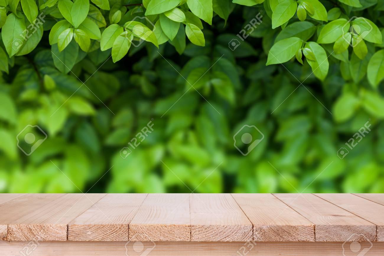Immagini Stock Piano Del Tavolo In Legno Marrone Su Bokeh Astratto