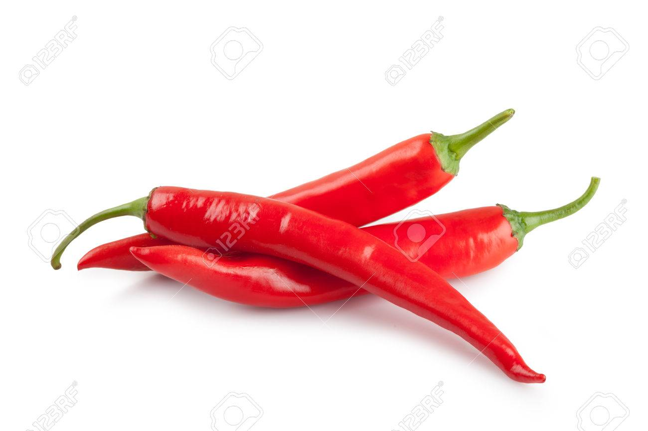 Chili Bilder chili oder cayennepfeffer chili isoliert auf weißem hintergrund
