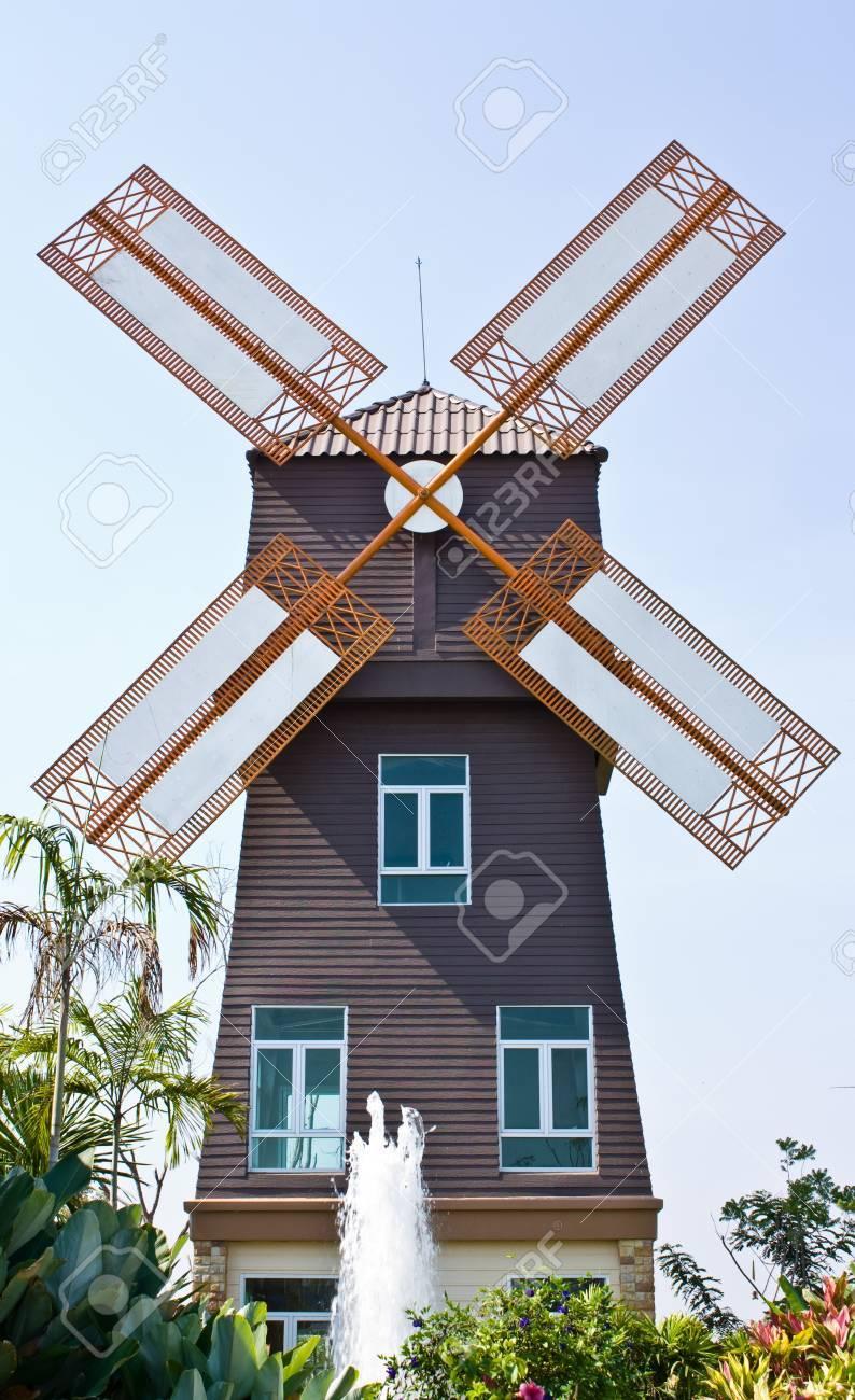 Denmark Style wind mill Stock Photo - 9987047