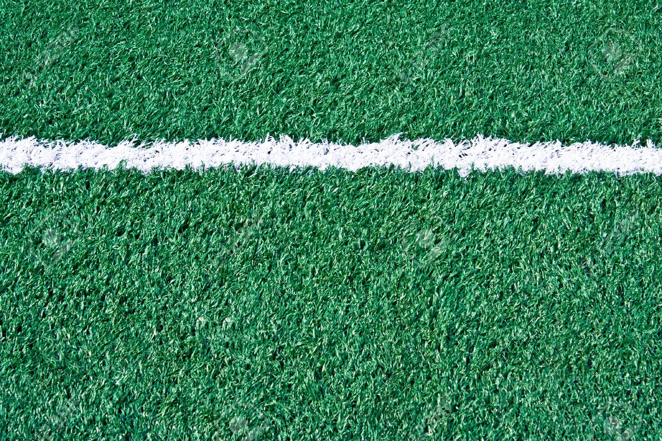 Fake grass soccer field with line Stock Photo - 10465238