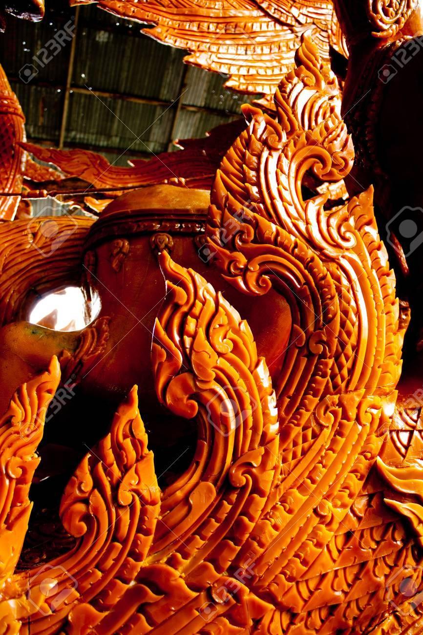 Thai style molding art in Candle Festival at Ubonratchathani Stock Photo - 11128255