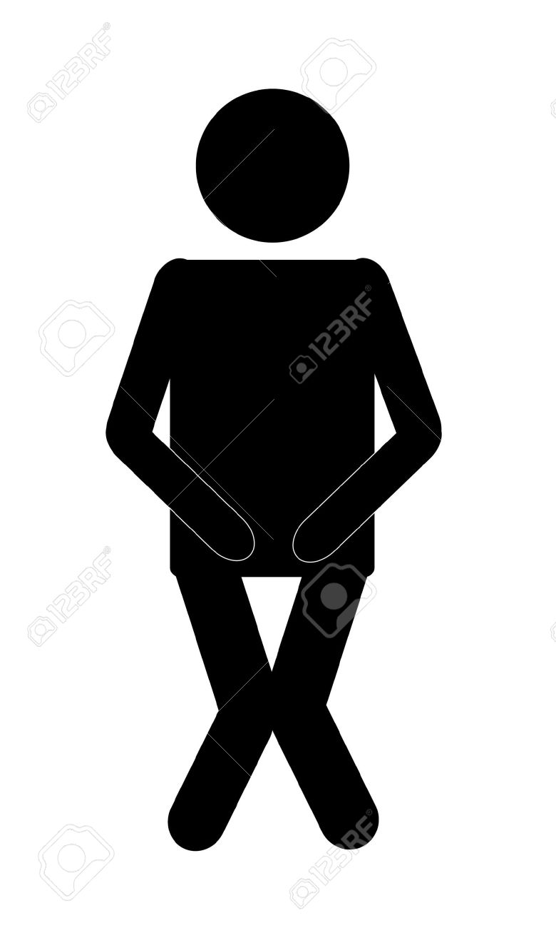 Male bathroom sign - Funny Male Restroom Sign Black On White Stock Photo 1350898