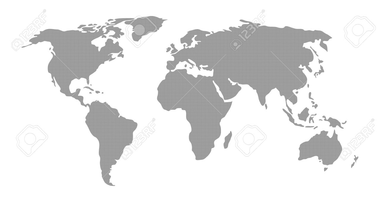 Illustration of world map in grey pattern on white background stock illustration illustration of world map in grey pattern on white background gumiabroncs Image collections
