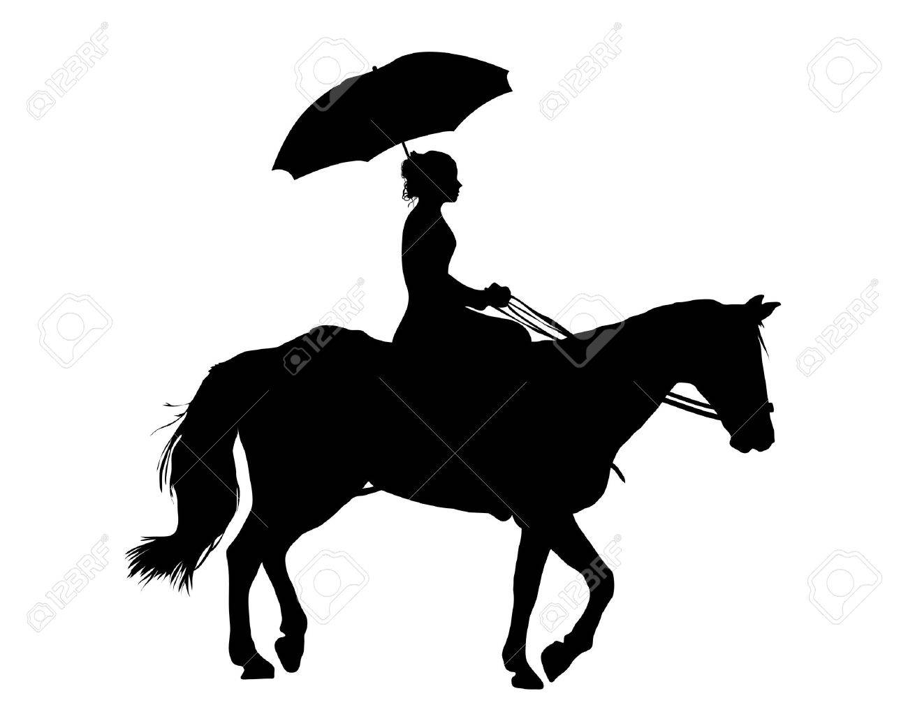 Illustration Of Woman Riding Horse On White Background Stock Photo Picture And Royalty Free Image Image 3091682