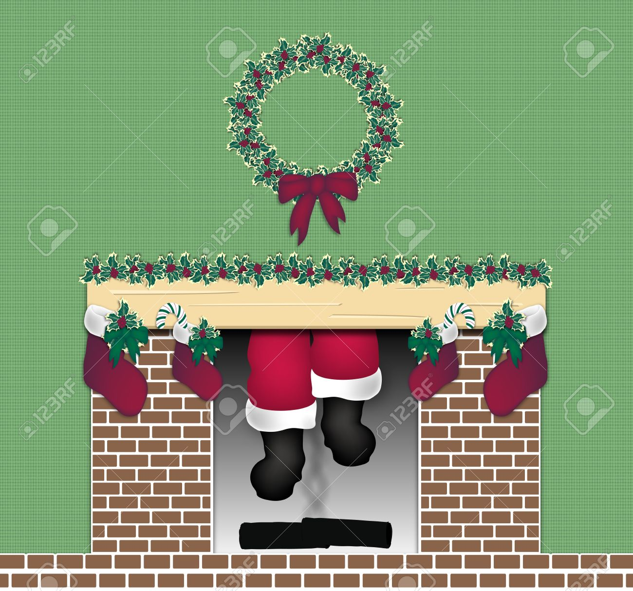 Come on Down Clipart Coming Down The Chimney