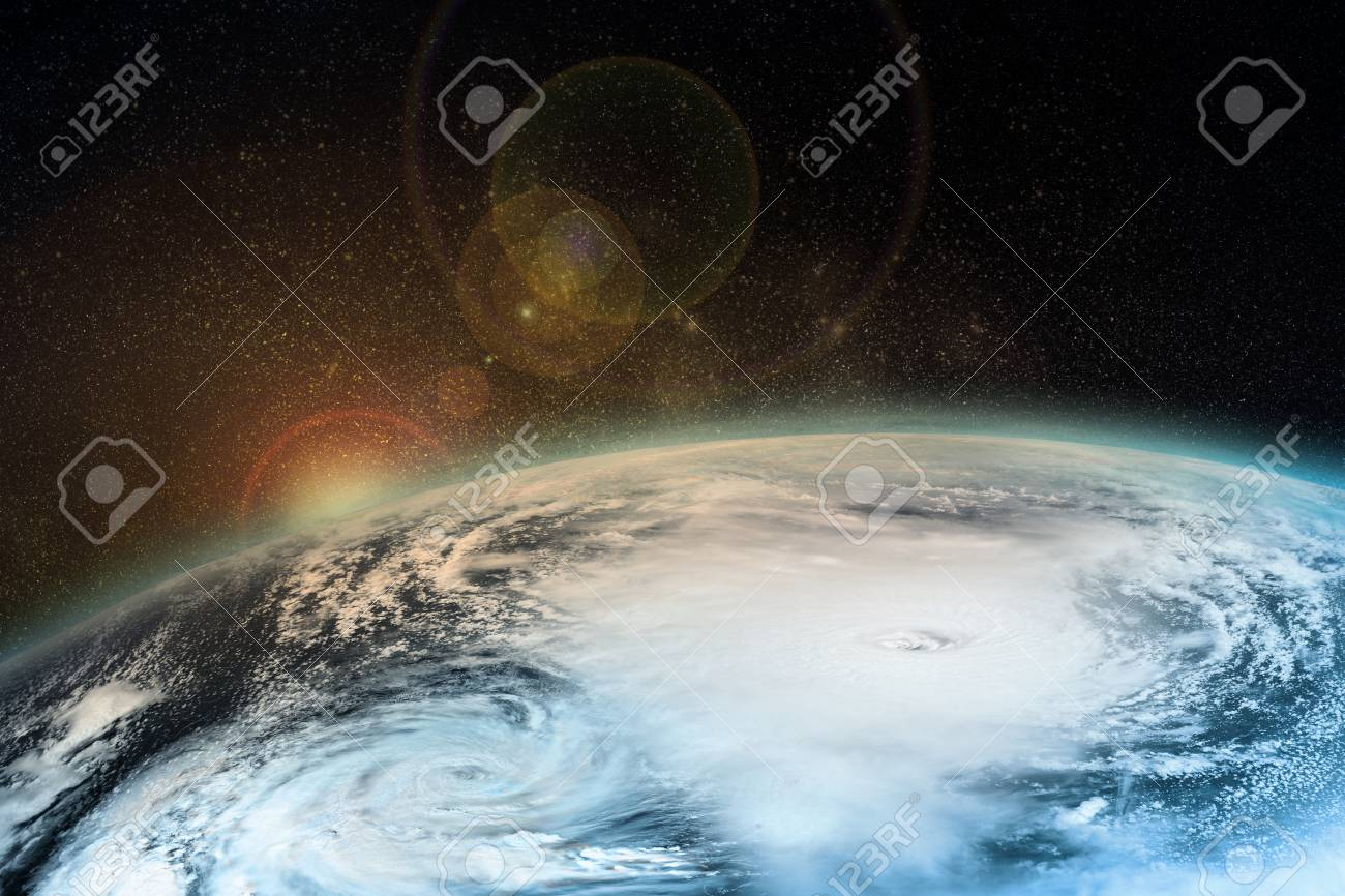 A hurricane on the Earth. Elements of this image furnished by NASA. - 91104023