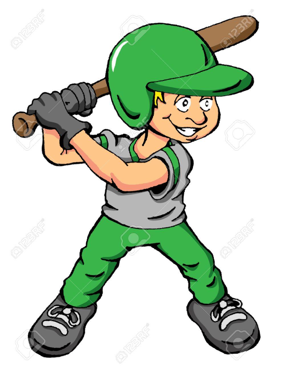 Vector cartoon of a boy about to swing a bat Stock Vector - 24921318