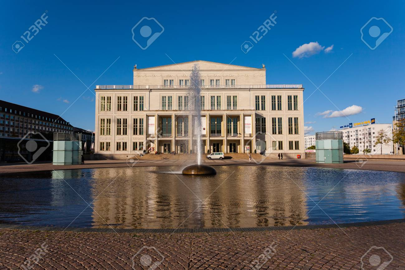 Cityscape View Of The Opera House Building In Leipzig Germany Stock Photo Picture And Royalty Free Image Image 30468360