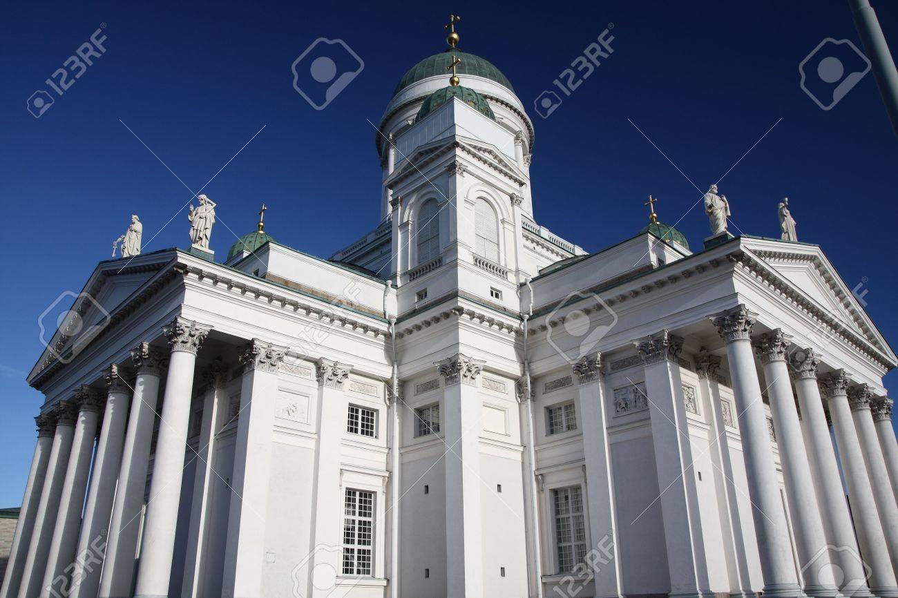 Tuomiokirkko, the Lutheran Cathedral in Helsinki Finland Stock Photo - 3827373