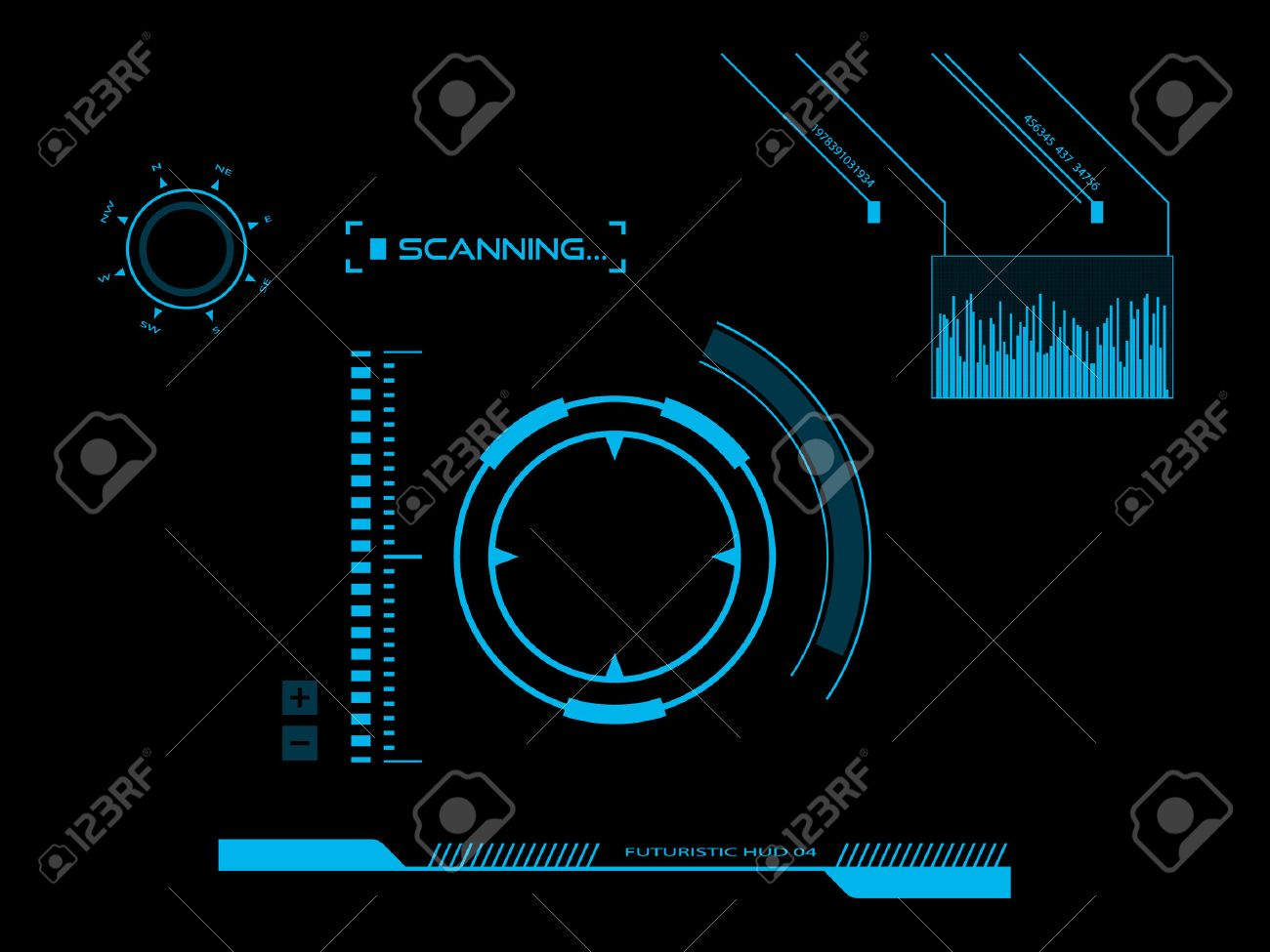 Futuristic user interface HUD - 25312830