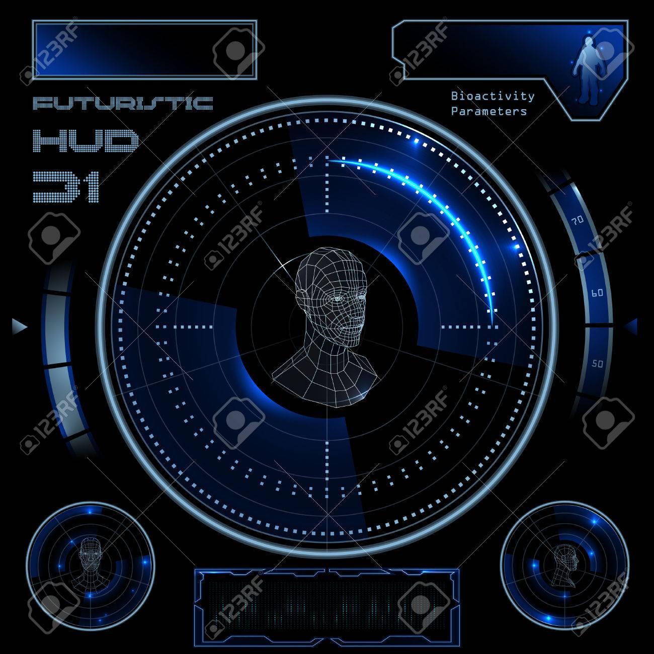 Futuristic sci-fi virtual touch user interface HUD elements - 40922232