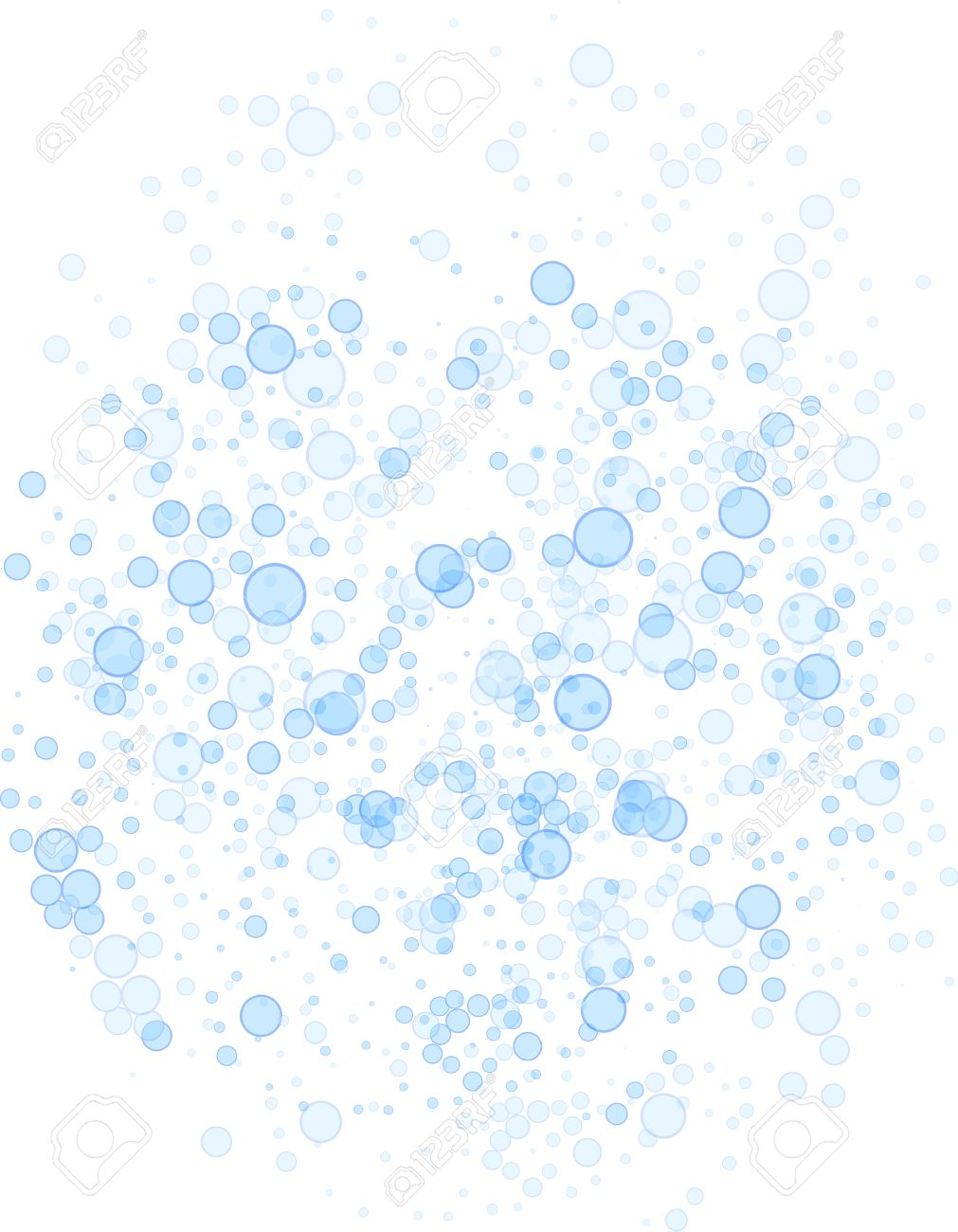 Abstract vector blue soap bubbles bathroom background - 49972445