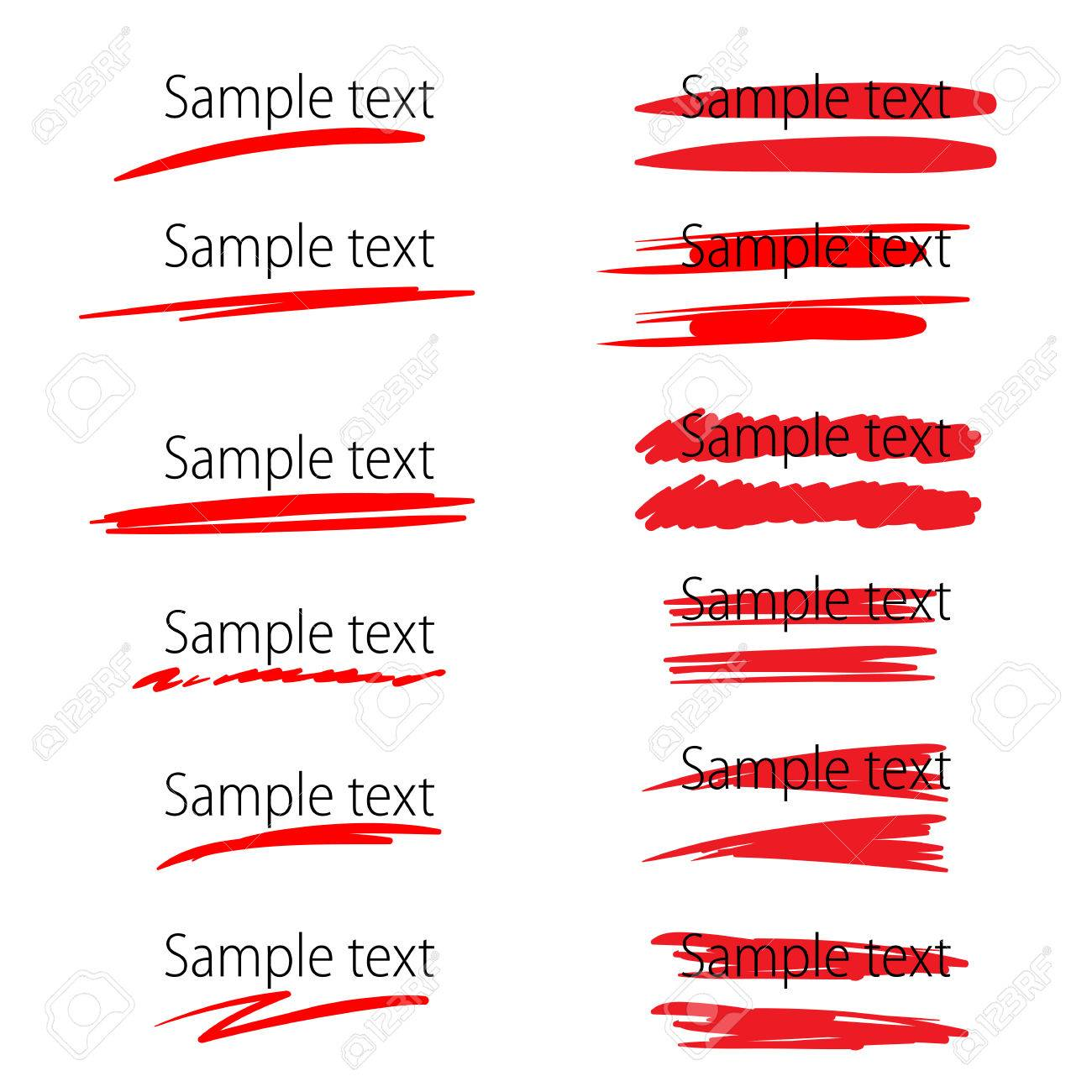 Set of vector highlighter marker strokes for text accentuation - 54294821