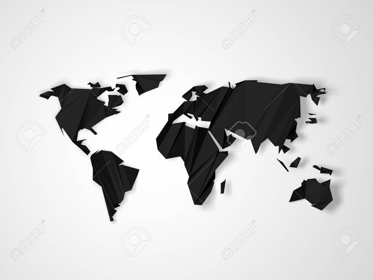 Polygonal dark gray world map isolated on white background abstract illustration polygonal dark gray world map isolated on white background abstract 3d illustration render gumiabroncs Choice Image