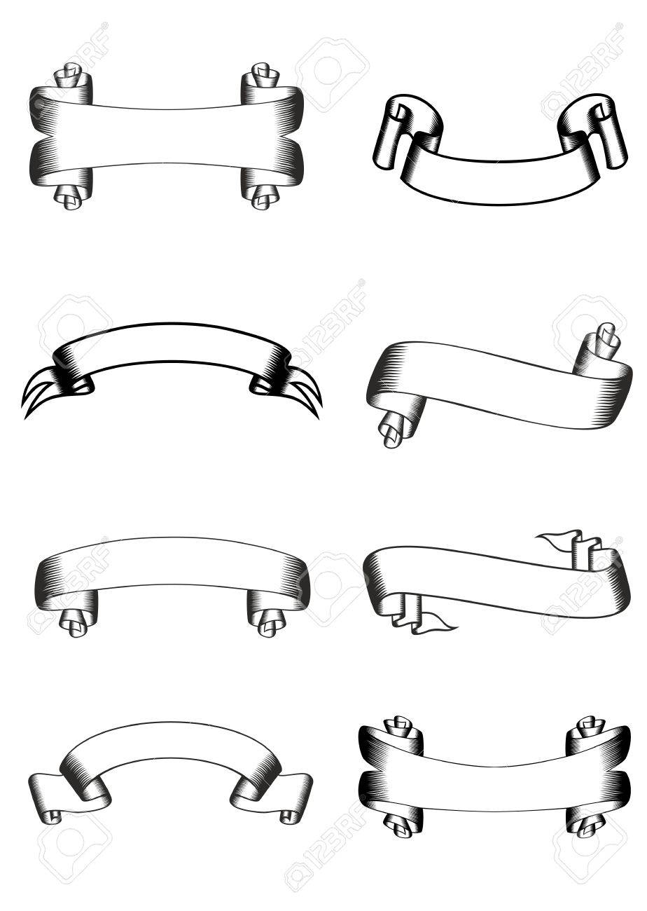 image of various ribbons Stock Vector - 12889347