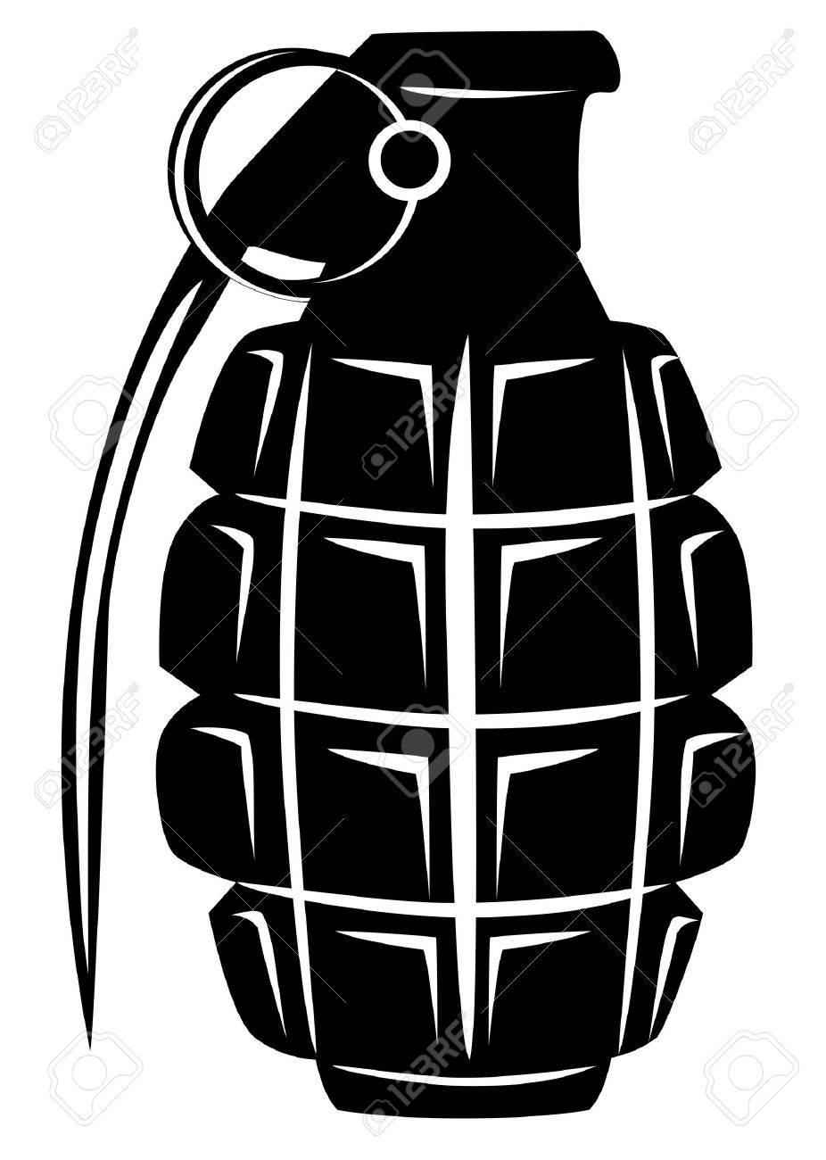 image of an army manual grenade royalty free cliparts vectors and rh 123rf com Grenade Graphics Bomb Vector