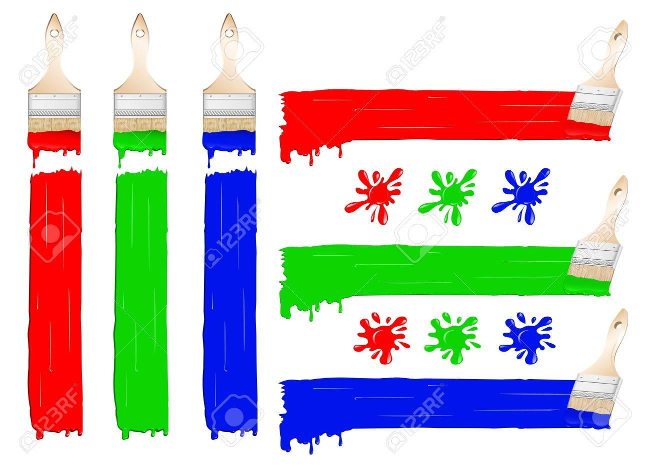 Vector illustration brushes and brush paints and spray set Stock Vector - 13186025