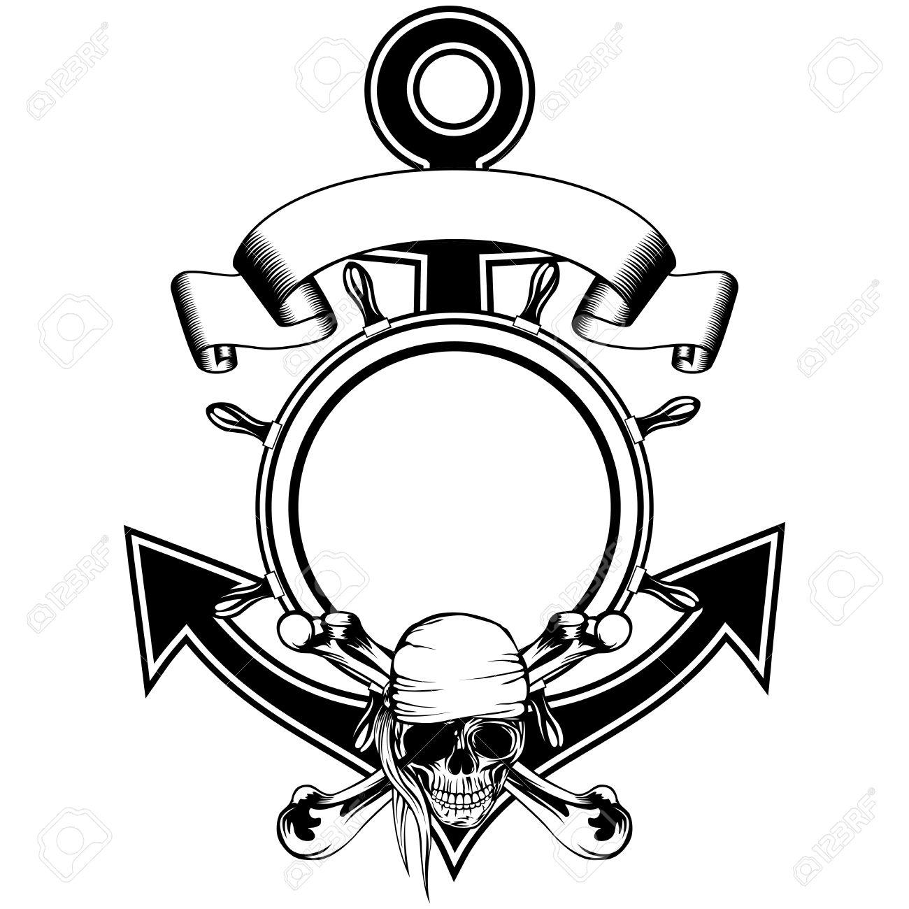 Ancla Y El Volante Marco Y La Piratería Cantan Cráneo Con Huesos ...