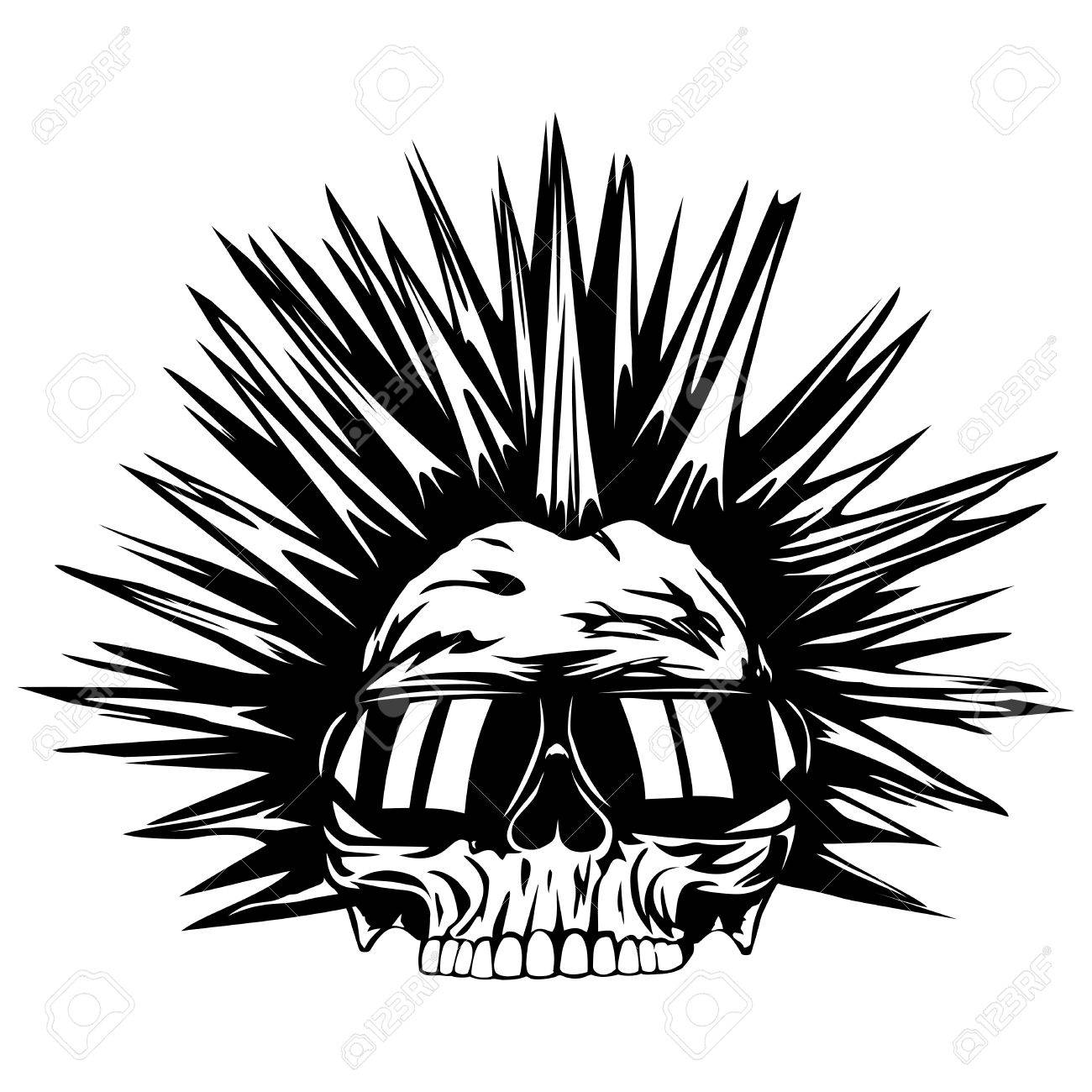 abstract vector illustration grunge skull punk with sunglasses rh 123rf com sons of anarchy logo vector download