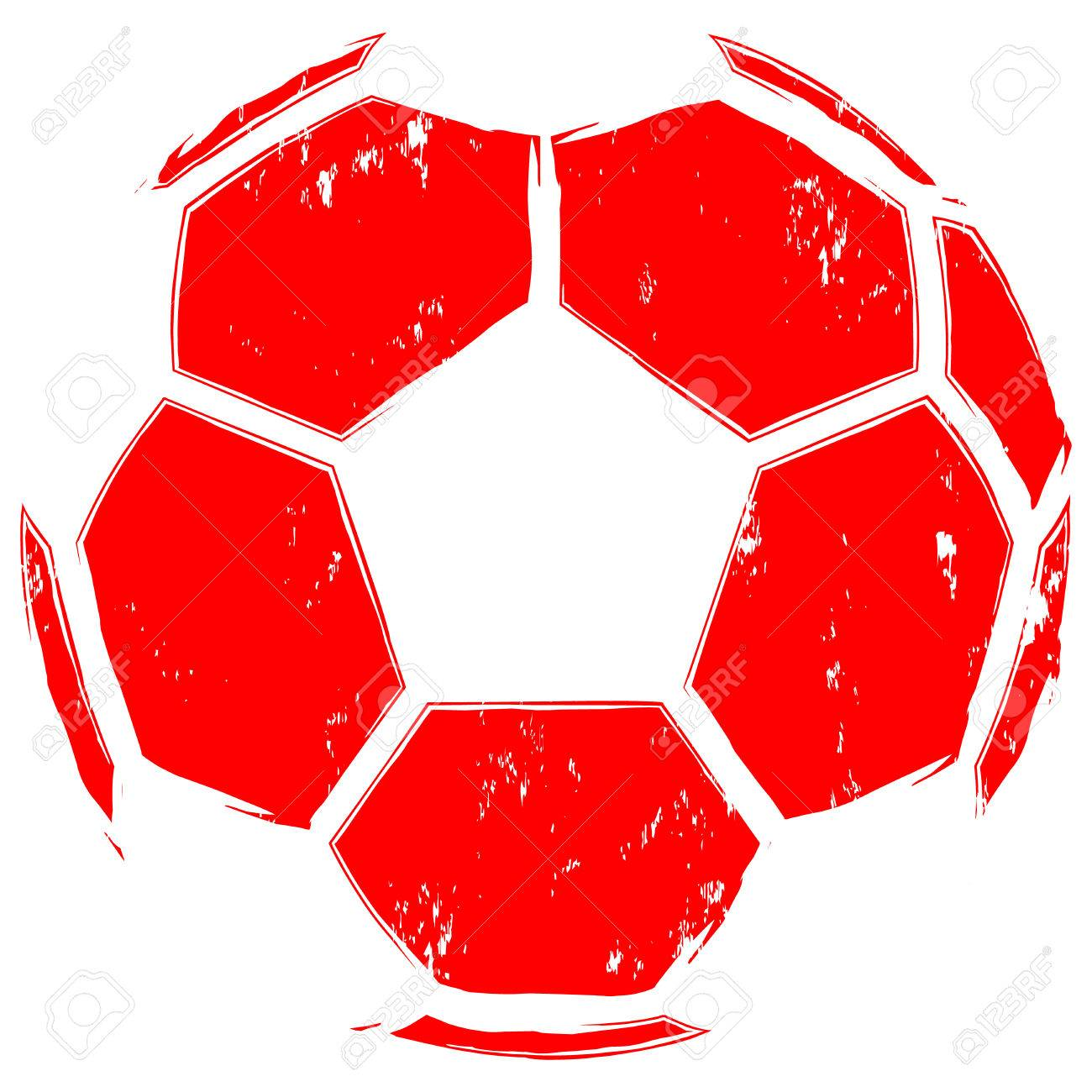 Abstract Vector Illustration Red Football Ball Design For Print
