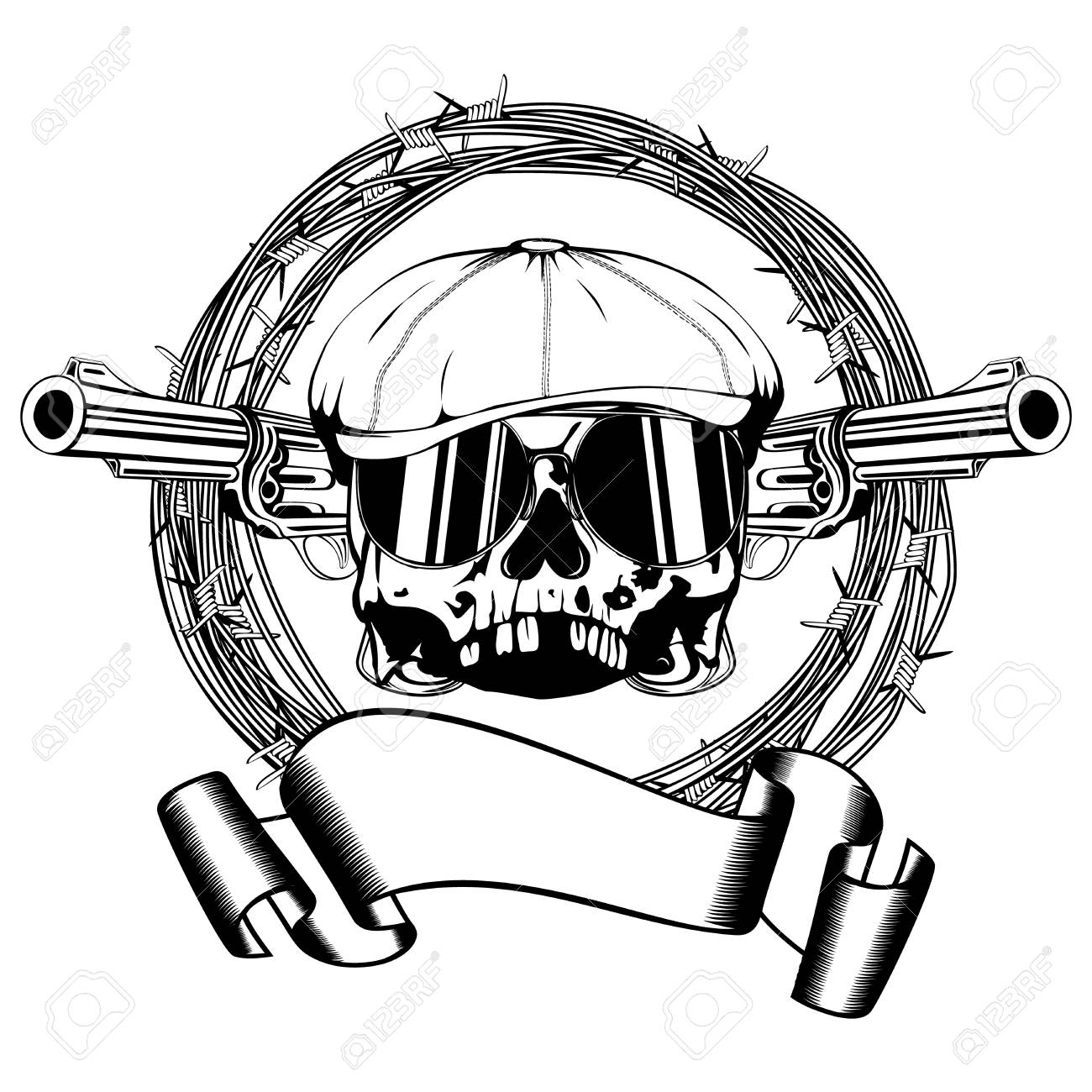 Skull Clip Art Barbed Wire - WIRE Center •