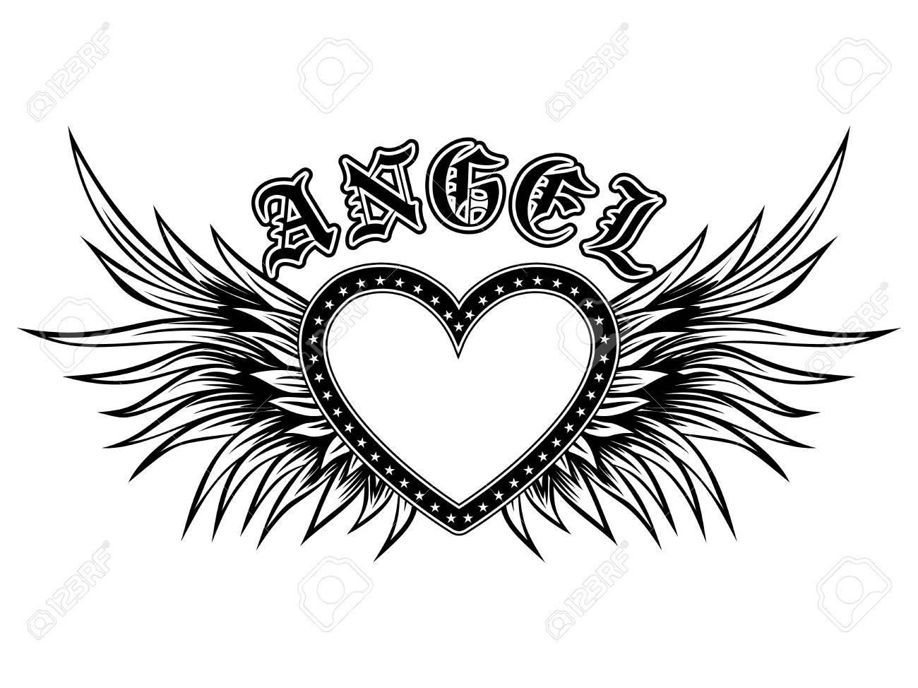 Image Coeur Noir Et Blanc résumé illustration vectorielle cadre coeur noir et blanc avec des