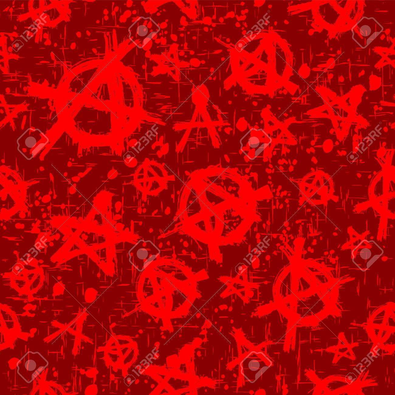 Illustrazione Vettoriale Astratto Sfondo Rosso E Bordeaux Anarchia Senza Soluzione Di Continuità