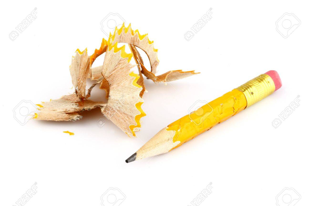turned yellow tip of the pen on a white background Stock Photo - 5602186