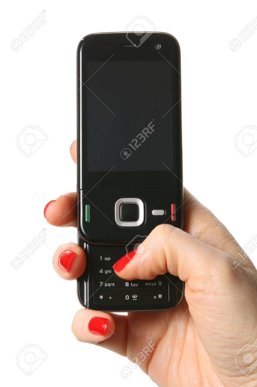 Cell Phone isoleted on white background Stock Photo - 6168681