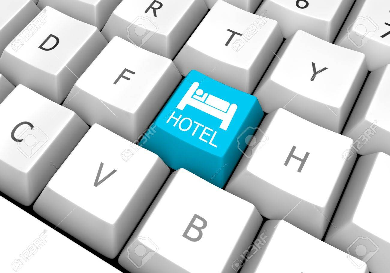 A successful concept used in hotel room search and study tour sites hotel key blue