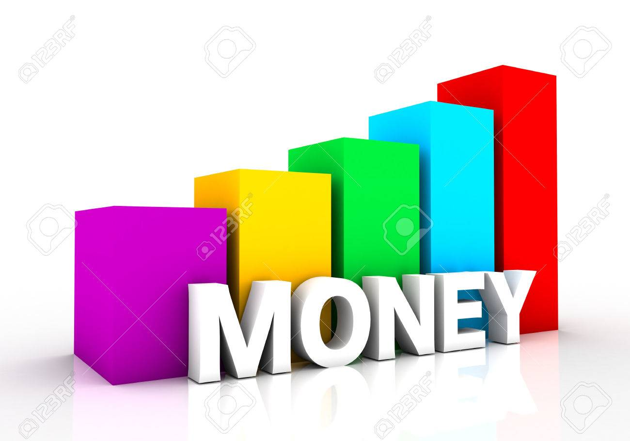 graph showing the rise of the money. a powerful design that you can use in presentations and draft Stock Photo - 52743810