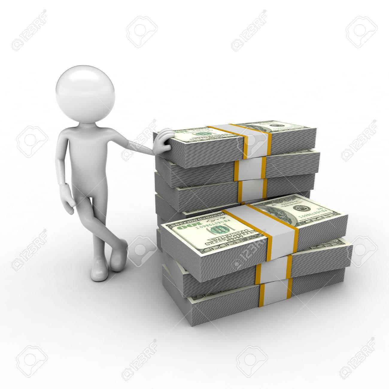 visual describing the economy using monetary and human figures Stock Photo - 57570280