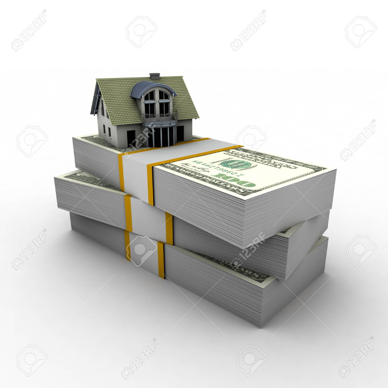 visually described with a mortgage on the house visually money. Stock Photo - 62468926