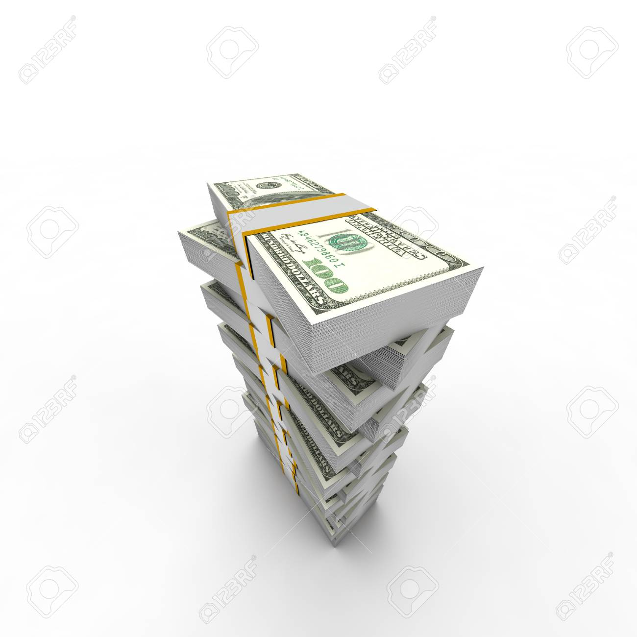 describing the financial resources made from dollar tower Stock Photo - 62468928