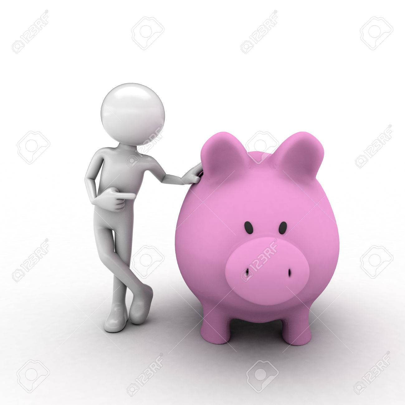 also with an audio visual piggy bank teller economy Stock Photo - 62468930