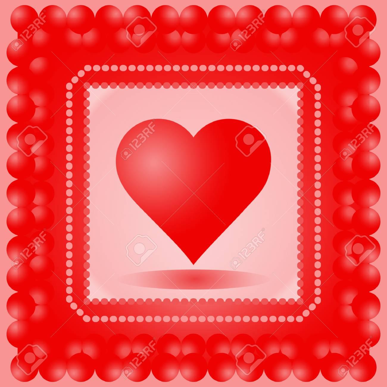 Rojo Amor Corazón adorno de artesanía boda matrimonio celebración Pegatinas Card