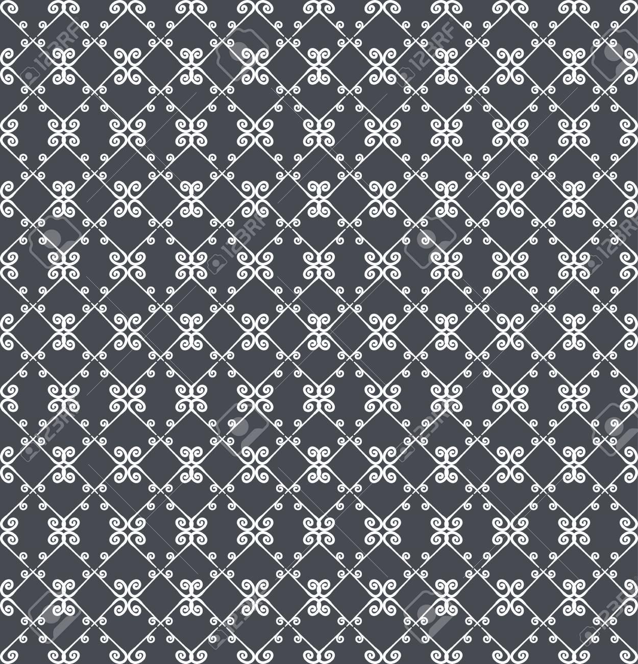 ornamental nahtlose muster graue und weie farben endlose vorlage fr tapeten textil - Tapete Muster Grau