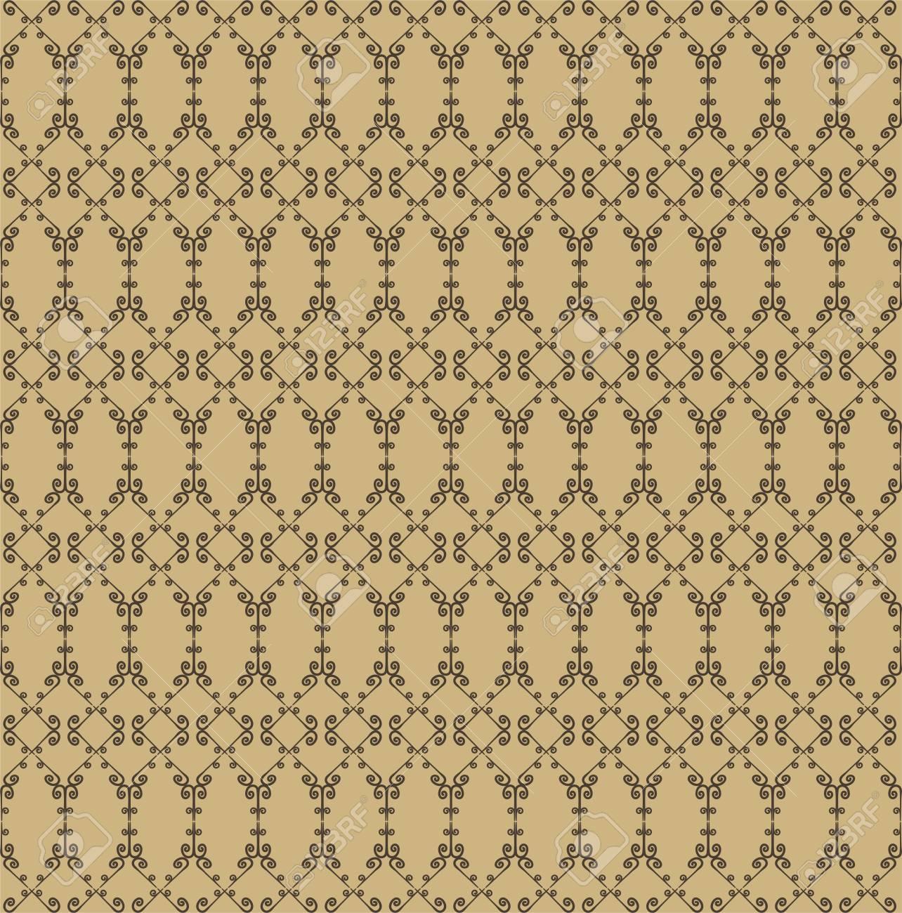 Ornamental Nahtlose Muster. Beige Und Braune Farben. Endless Vorlage Für  Tapeten, Textilien,