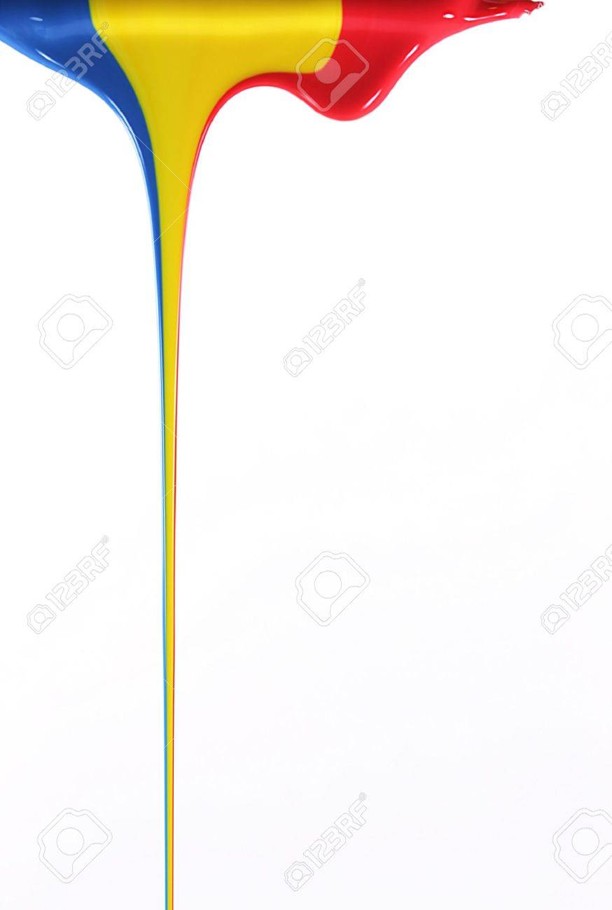Pouring primary colors Stock Photo - 2667118