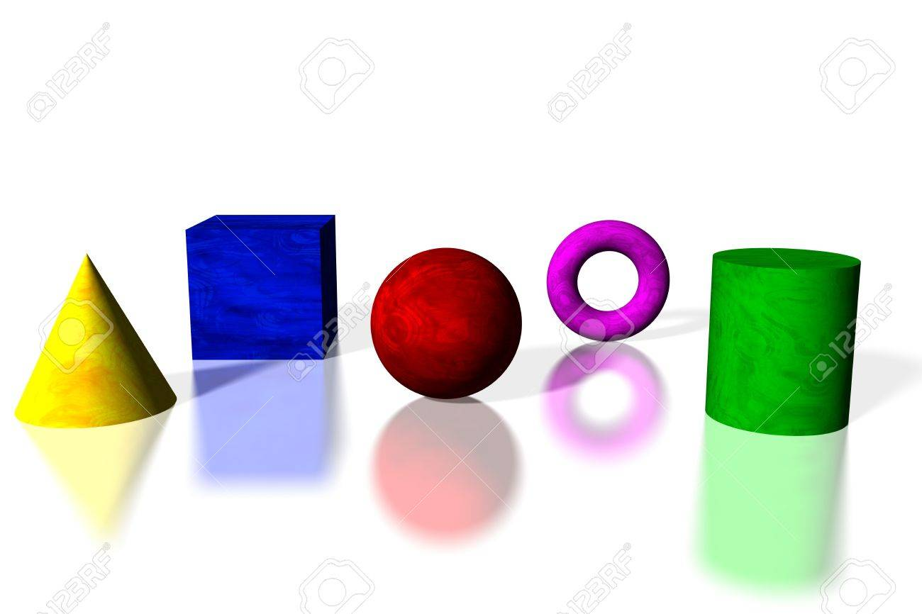 Basic shapes in bright colors Stock Photo - 2676289
