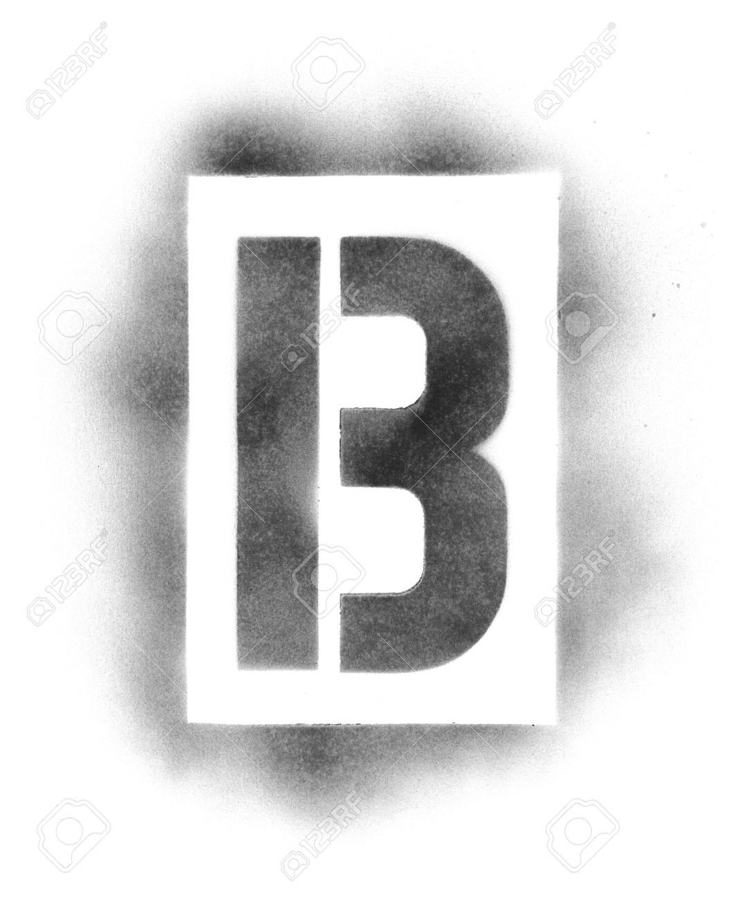 stencil letters in spray paint stock photo 5041361